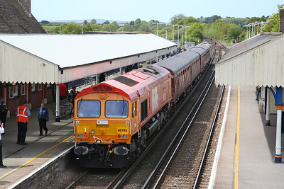 66783 (33012 front), Wareham, on rear of 1Z45 11.40 to Corfe Castle - 13/05/18