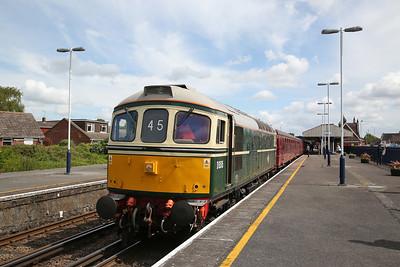 33012 (66783 rear), Wareham, 1Z45 11.40 to Corfe Castle - 13/05/18