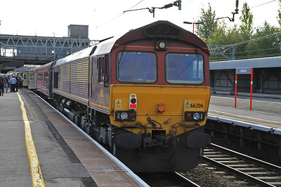 66206 at Stafford on rear of 1Z67 - 29/10/11.