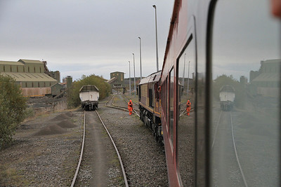 66206 on rear of 1Z67 as we head away from Stud Farm Quarry - 29/10/11.