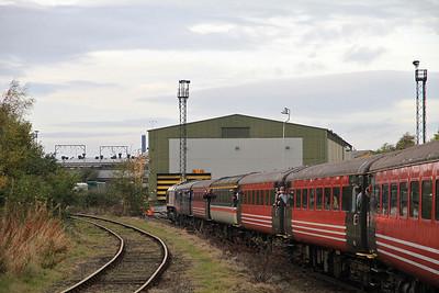 66118 heads into Wolverhampton Steel Terminal on 1Z67 - 29/10/11.