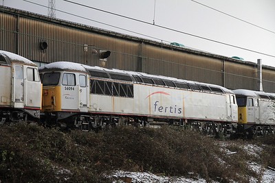 56094 stored on Crewe Diesel depot - 17/12/11.