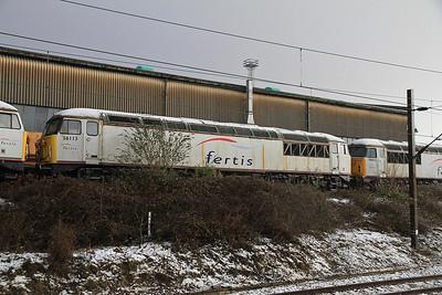 56113 stored on Crewe Diesel depot - 17/12/11.