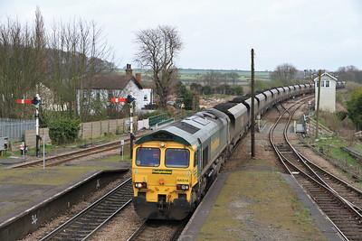 66514 appr Barnetby on 6H60 12.xx Immingham-Drax Coal - 02/04/11