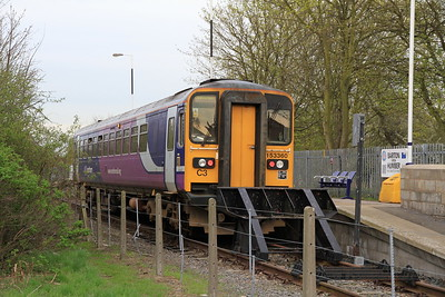 57360 at Barton-on-Humber on the 18.00 to Cleethorpes - 02/04/11