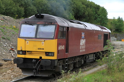 60040 at Peak Forest in between stone train workings - 20/08/11