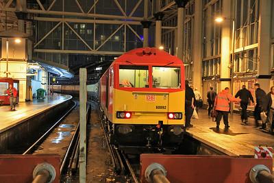 60092, London Waterloo, 1Z58 - 22/12/12.