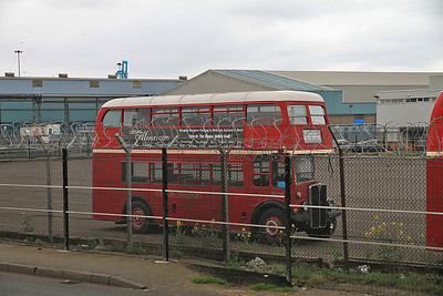 Old London bus parked up at Seaforth docks - 14/04/12.
