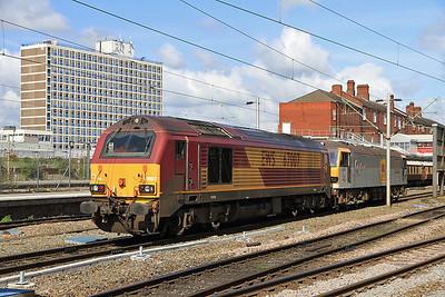 67007 / 92027 at Crewe - 14/04/12.