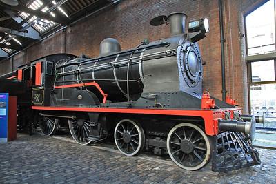 ex-Pakistan Railways 4-4-0 3157 on display inside MOSI  - 03/11/13.