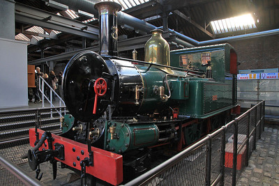 ex-IOMR No.3 'Pender' on display in a sectioned condition inside MOSI  - 03/11/13.