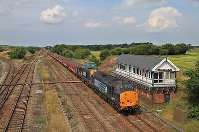 37603/20312 approaching Kirkham & Wesham, 1Z87 - 27/07/13.