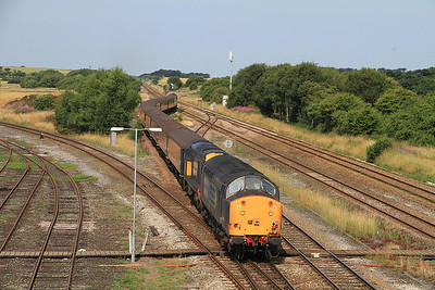 37603/20312 bring up the rear of 1Z86 as it passes Kirkham & Wesham - 27/07/13.