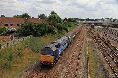 47805 brings up the rear of 1Z87 as it approaches Kirkham & Wesham - 27/07/13.