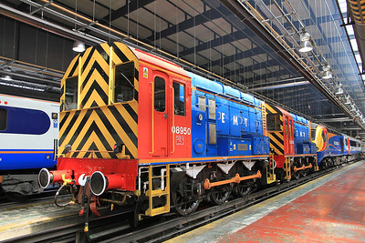 """08950 / 08908 inside the Train Maintenance depot ready to depart on the """"The Neville Hill Navigator"""" - 13/07/13."""