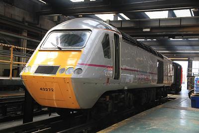 East Coast's 43272 inside the Train Maintenance depot - 13/07/13.