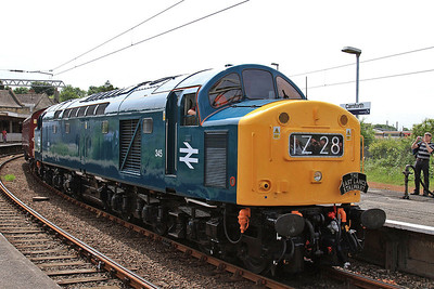 40145, Carnforth, about to depart on 1Z28  - 06/06/14.