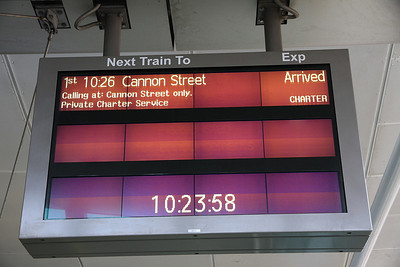 The indicator at Blackfriars - actually it was stopping at Hayes en-route to Cannon Street but never mind ! - 08/02/14.