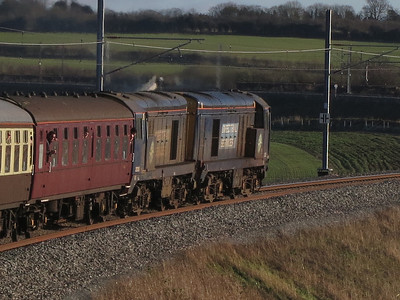 20302+20305 coming off the new Hitchin flyover, 1Z20 - 11/01/14.