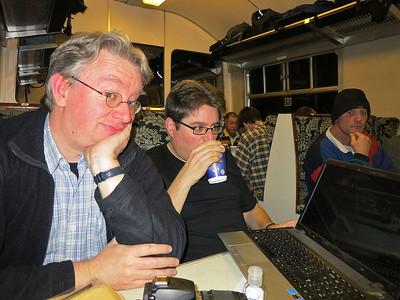 Dave enjoying Des's video show - 11/01/14.