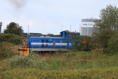 Port Talbot Tata Steel 07 (Brush 95/1957, Rebuilt Hunslet/Barclay 1993), Margam Yard - 24/08/14.