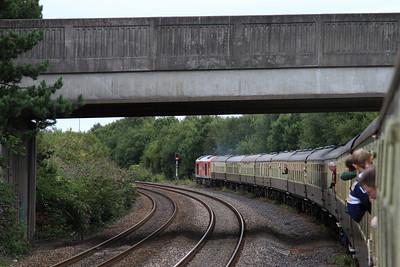 60040 leaving Briton Ferry Yard, 1Z61 - 24/08/14.