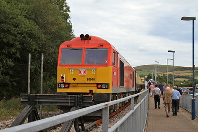 60040 at the buffer stops at Maesteg, 1Z61 - 24/08/14.