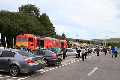 60040 at the buffer stops at Maesteg, 1Z61 - 24/08/14.