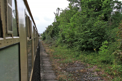 Passing a long-closed station on the Portbury line - 19/07/14.
