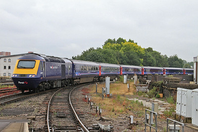 43079 dep Bristol Temple Meads, on rear of 1A14 11.00 to London Paddington - 19/07/14.