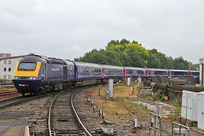 43079 dep Bristol Temple Meads, on rear of 1A14 11.00 to London Paddington - 19/07/14.