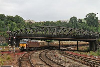 57315 dep Bristol Temple Meads, on rear of 1Z57 06.15 Sheffield-Minehead Charter - 19/07/14.