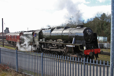 46115 ready to leave the WCRC yard at Carnforth for a railtour outing to Carlisle - 21/03/15.