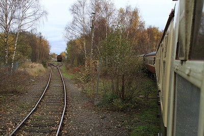 1Z25 heading up the Stanhope dock line - 14/11/15.