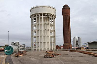 Goole's famous 'Salt & Pepper pots' water towers - 14/11/15.