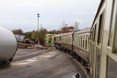 66037 on the truncated Stanhope dock line - 14/11/15.