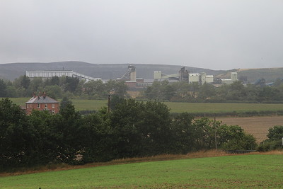 a glimpse of Thoresby Colliery in the gloom - 31/08/15.