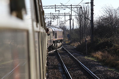 66177 taking the Tilbury IRFT branch at Tilbury Railport Jctn. - 29/12/16.