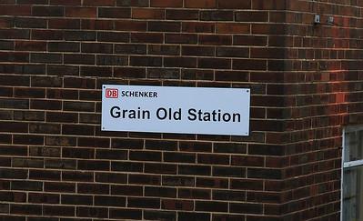 Grain Old Station sign - 29/12/16.