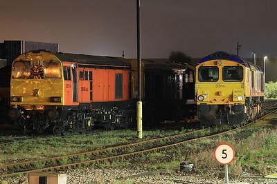 20314 + 20107 (for the tour) & 66720, Eastleigh - 20/08/16.
