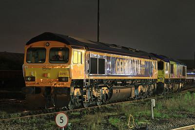 66707 & 66720, Eastleigh - 20/08/16.