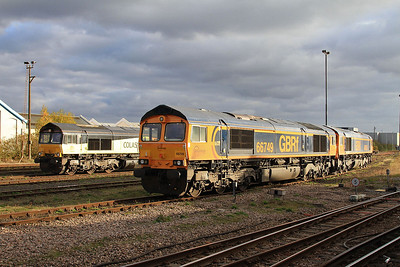 66850, 66749 & 66755 stabled at Eastleigh - 05/11/16.