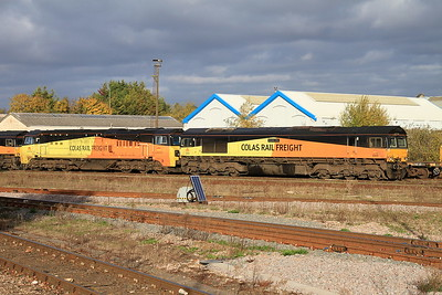 70810 & 66849 stabled at Eastleigh - 05/11/16.