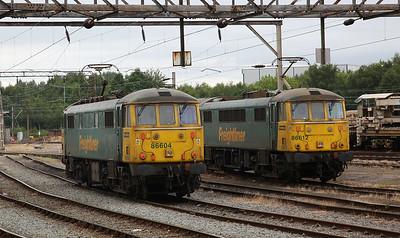 86604 & 86612, Crewe Basford Hall - 24/06/17