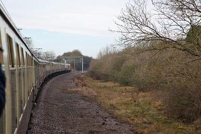 67018 heads up the Edwalton line, 1Z82 - 29/12/17.