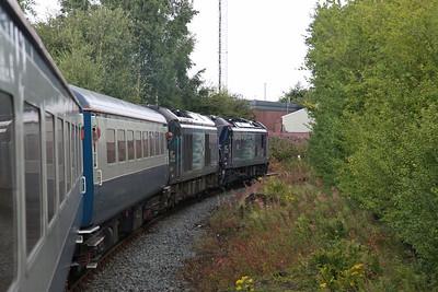 88004 / 68016 negotiate Upperby curve (Carlisle avoider), 1Z39, note 88004 now on diesel - 12/08/17