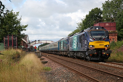 88004 / 68016 on arrival at Appleby, 1Z39 - 12/08/17