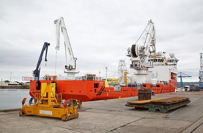 Multi Purpose Offshore Vessel 'Ariadne', moored on the North Sea Supply Base Wharf - 21/07/18