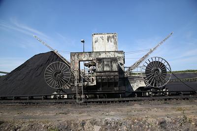 Ketton cement works, coal stockpile machine - 01/07/18