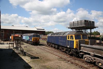 08567 (Under restoration), 57302 & 47815 (both operational), Eastleigh Works - 02/06/18